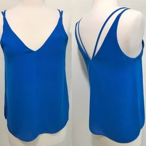 Topshop blue tank top camisole strappy shirt 4
